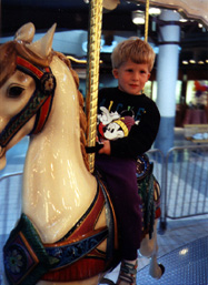 evan on a horse
